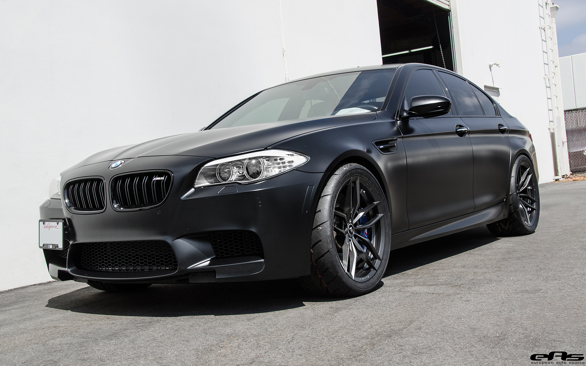 Matte Black Bmw F10 M5 Gets Vorsteiner Flow Forged Wheels