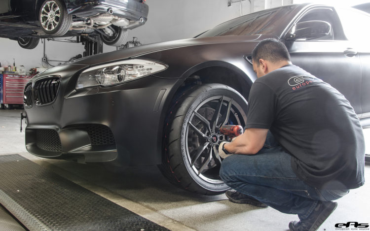 Matte Black BMW F10 M5 Gets Vorsteiner Flow Forged Wheels 4 750x469