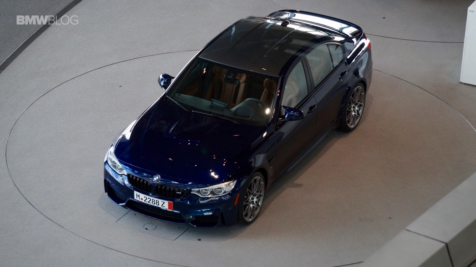 Tanzanite Blue BMW M3 European Delivery 1