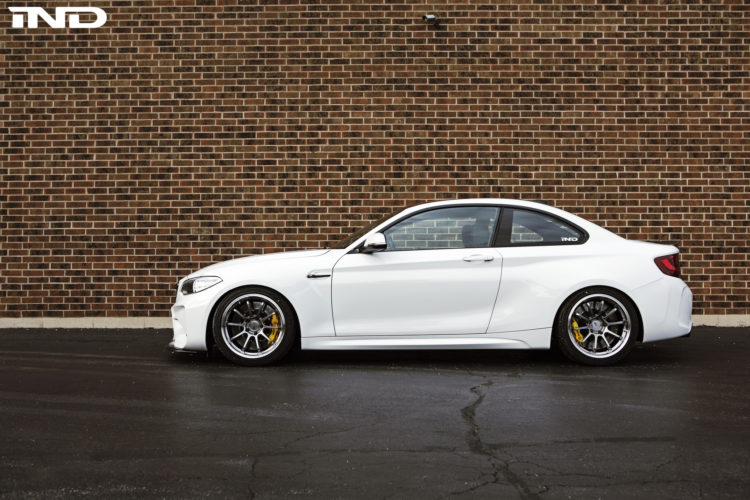 A Slammed Alpine White BMW M2 With Carbon Fiber Goodies By IND Distribution 2 750x500
