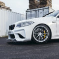 A Slammed Alpine White BMW M2 With Carbon Fiber Goodies By IND Distribution