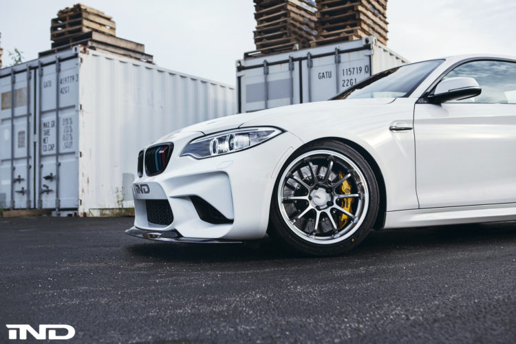 A Slammed Alpine White BMW M2 With Carbon Fiber Goodies By IND Distribution 4 750x500