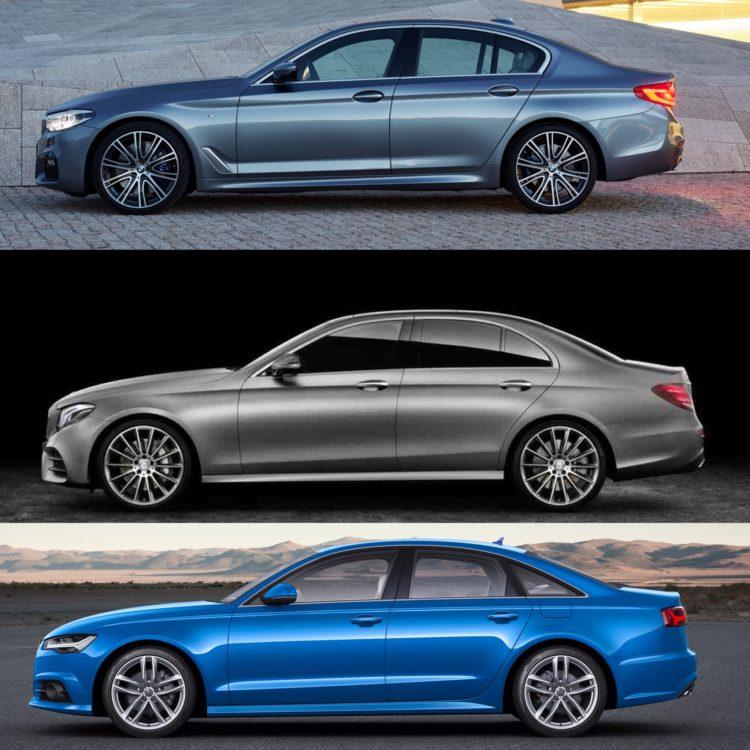 BMW 5 Series Vs Mercedes-Benz E-Class Vs Audi A6 -- Photo