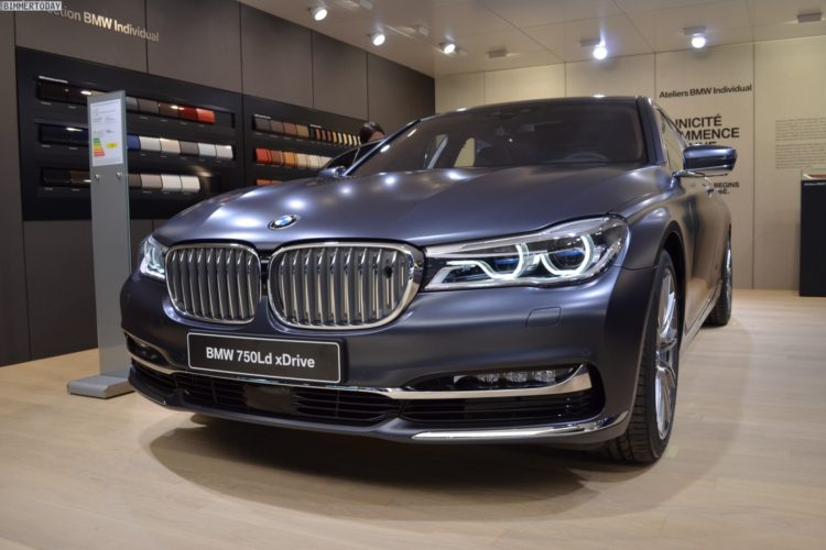 BMW 750d 2016 Paris Frozen Arctic Grey Quadturbo Diesel 02 750x500