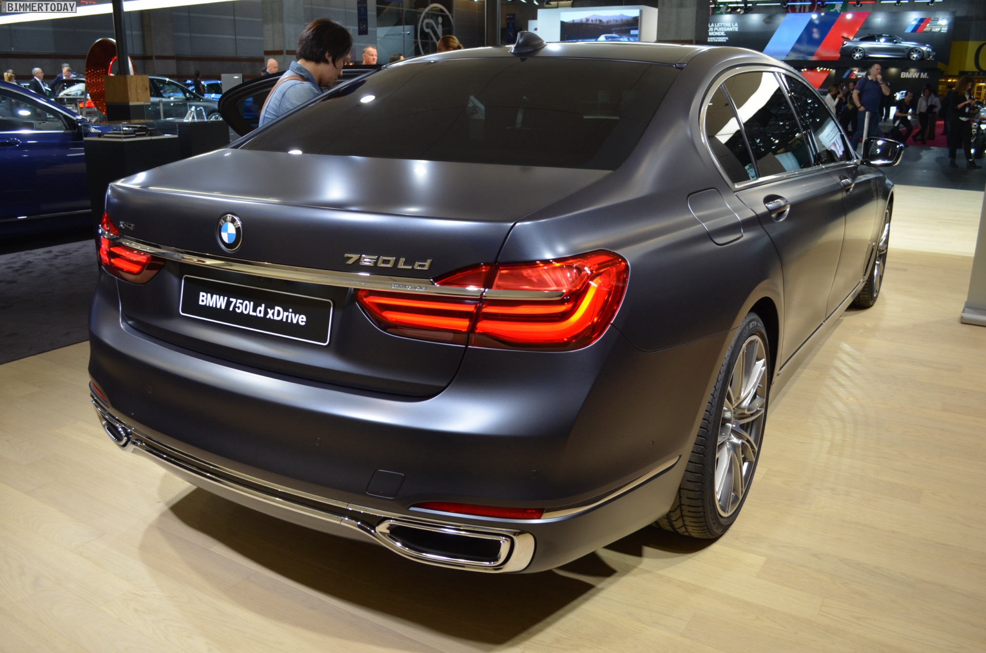 2017 Bmw 750d Quad Turbo Diesel Debuted In Frozen Arctic Grey