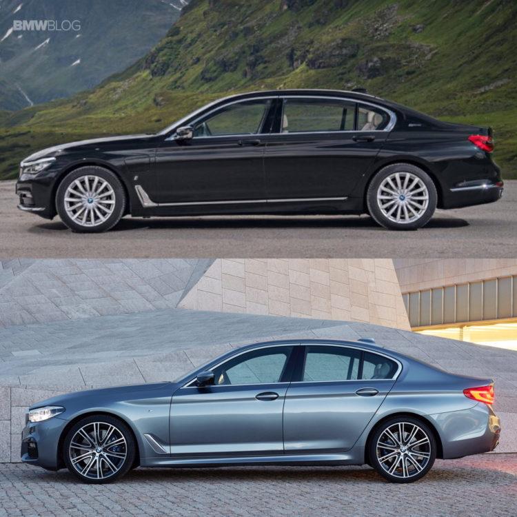 BMW G30 5 Series G11 7 Series comparison 3 750x750