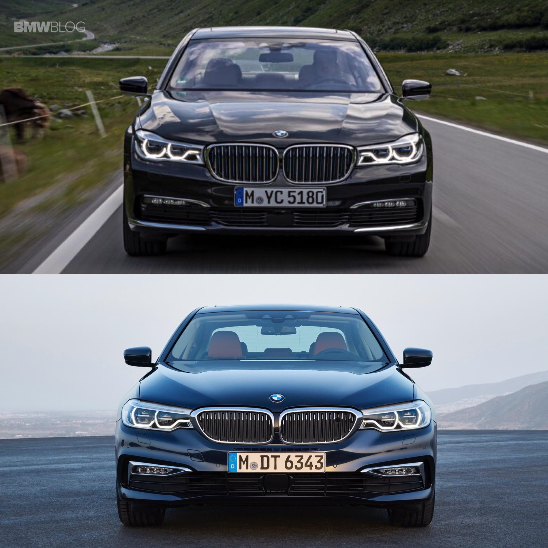 Bmw X7 M Series: 2017 BMW G30 5 Series Vs. BMW G11 7 Series