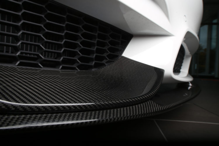 BMW M3   M Performance Carbon Fiber Front Splitter w Polyurethane Front Lip 28Black29 1 750x500