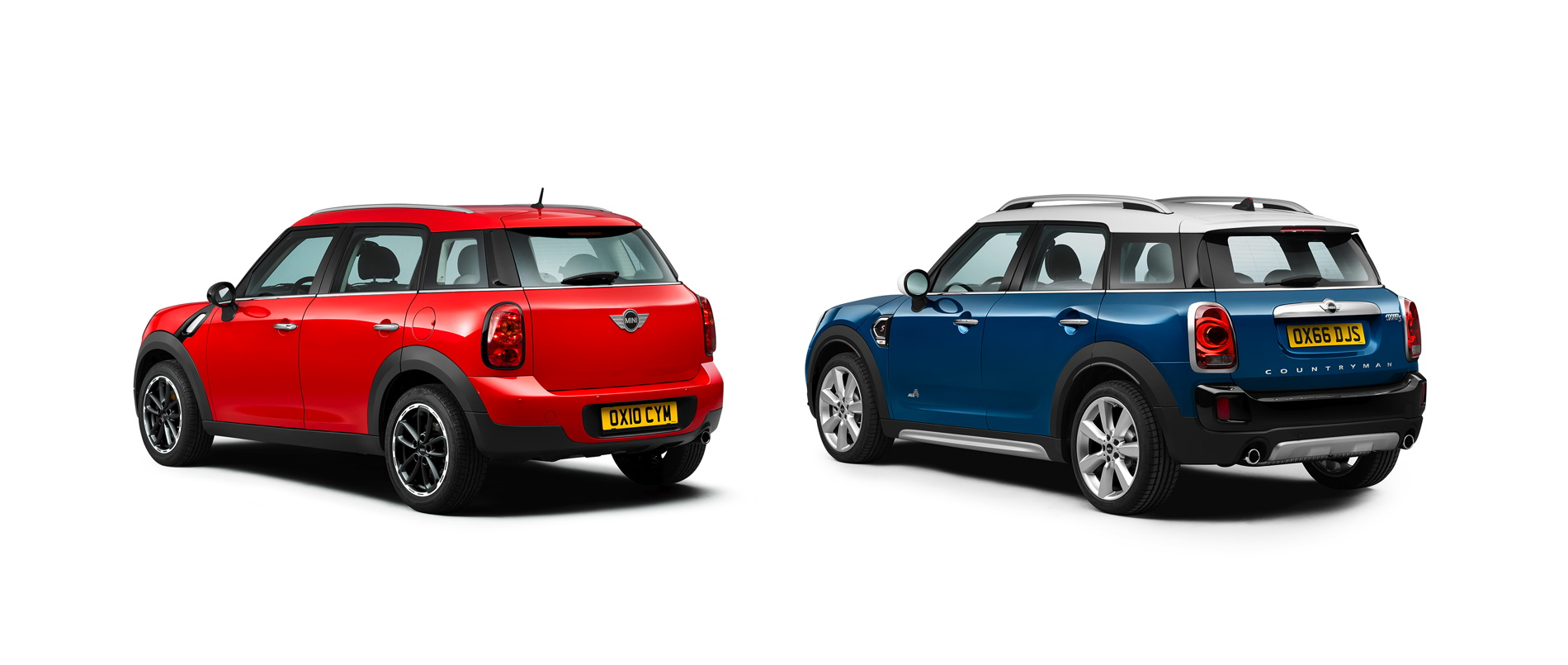 Photo Comparison Mini R60 Countryman Vs New Mini F60 Countryman