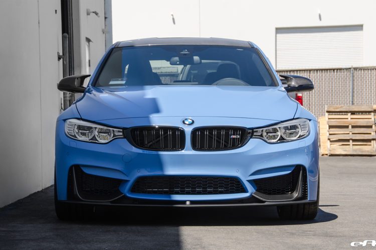 Yas Marina Blue BMW M3 With A Competition Package Gets IND Cosmetic Details Installed 10 750x500