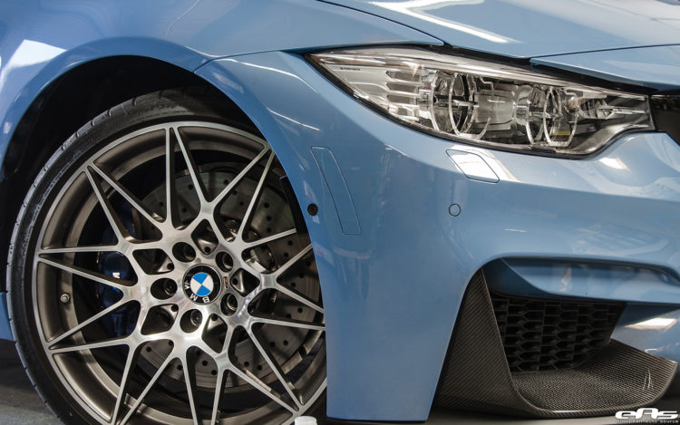 Yas Marina Blue BMW M3 With A Competition Package Gets IND Cosmetic Details Installed 9 750x469