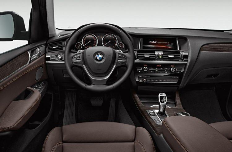 bmw F25 X3 interior 750x494