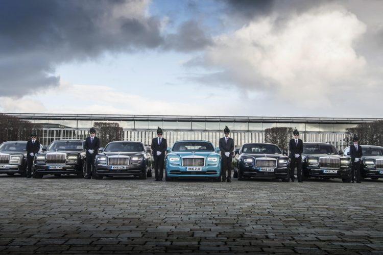1295505 Rolls Royce chauffeurs prepare for the Elephant Family Animal Ball b 750x500