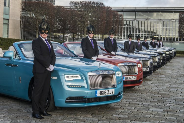 1295506 Rolls Royce chauffeurs prepare for the Elephant Family Animal Ball  750x500