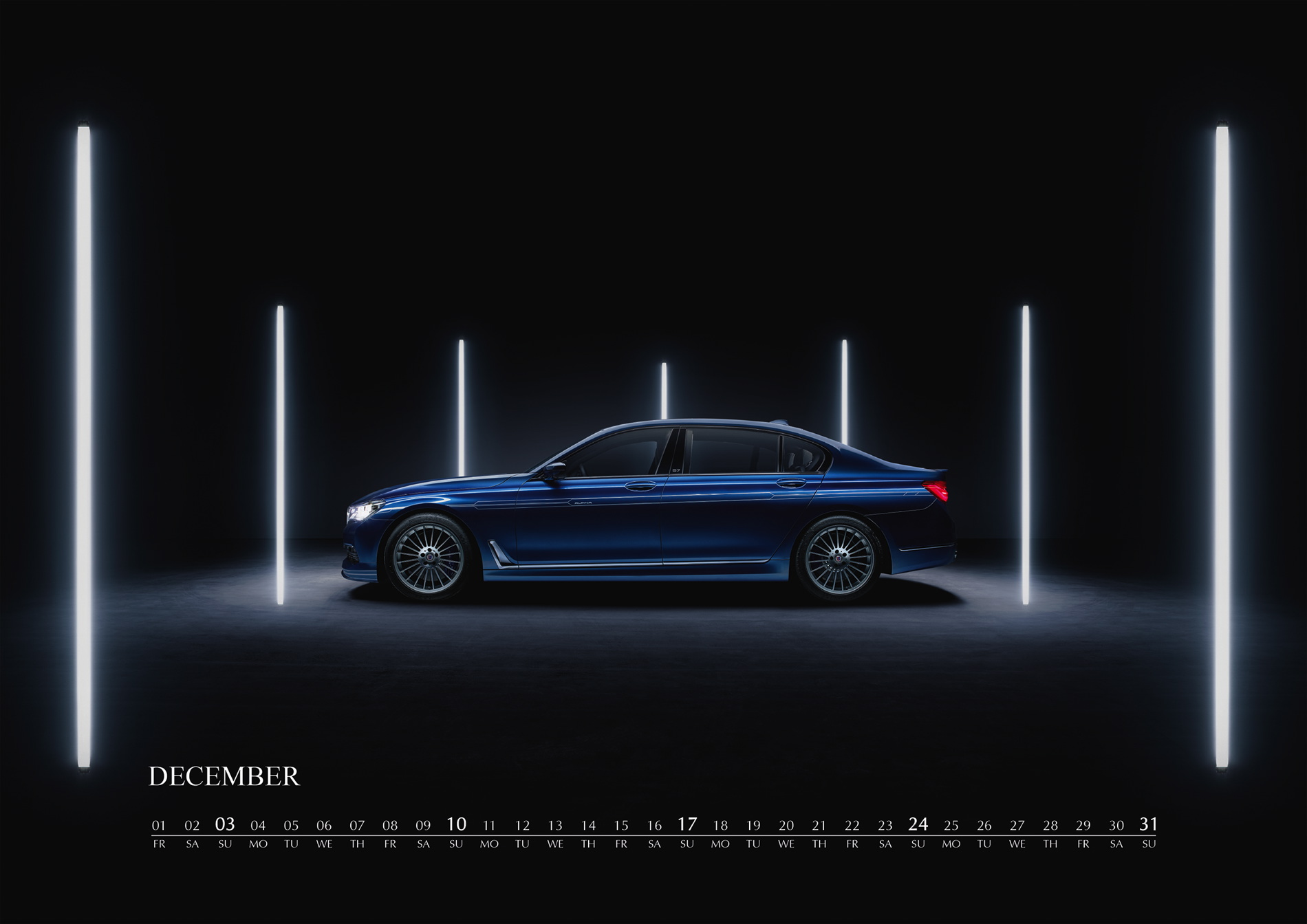 ALPINA wall calendar dedicated to the 7 Series is now available