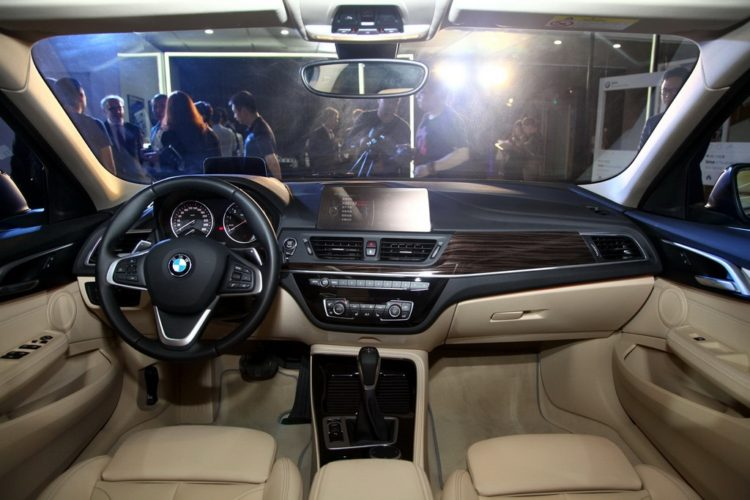 BMW 1 Series sedan dashboard world debut 750x500