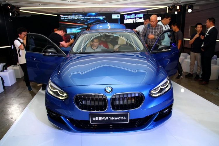 BMW 1 Series sedan front world debut 750x500