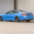 Yas Marina Blue Metallic BMW M4 Gets ADV5.2 M.V2 Wheels Installed