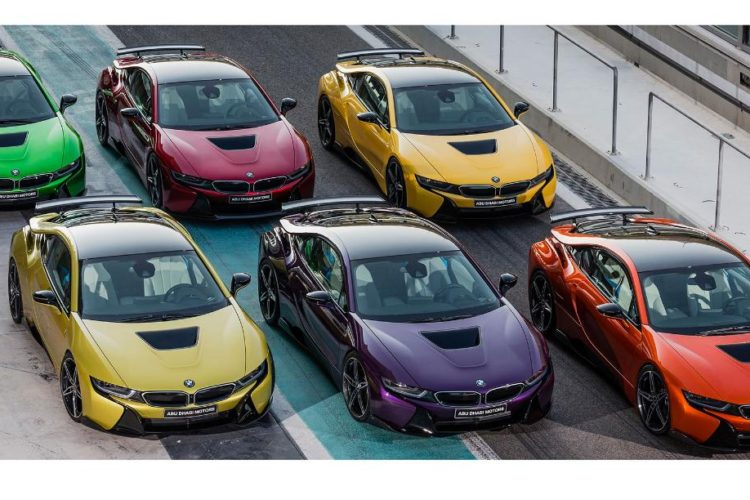 Abu Dhabi Motors Offers Limited Collection Of Colors For The Bmw I8