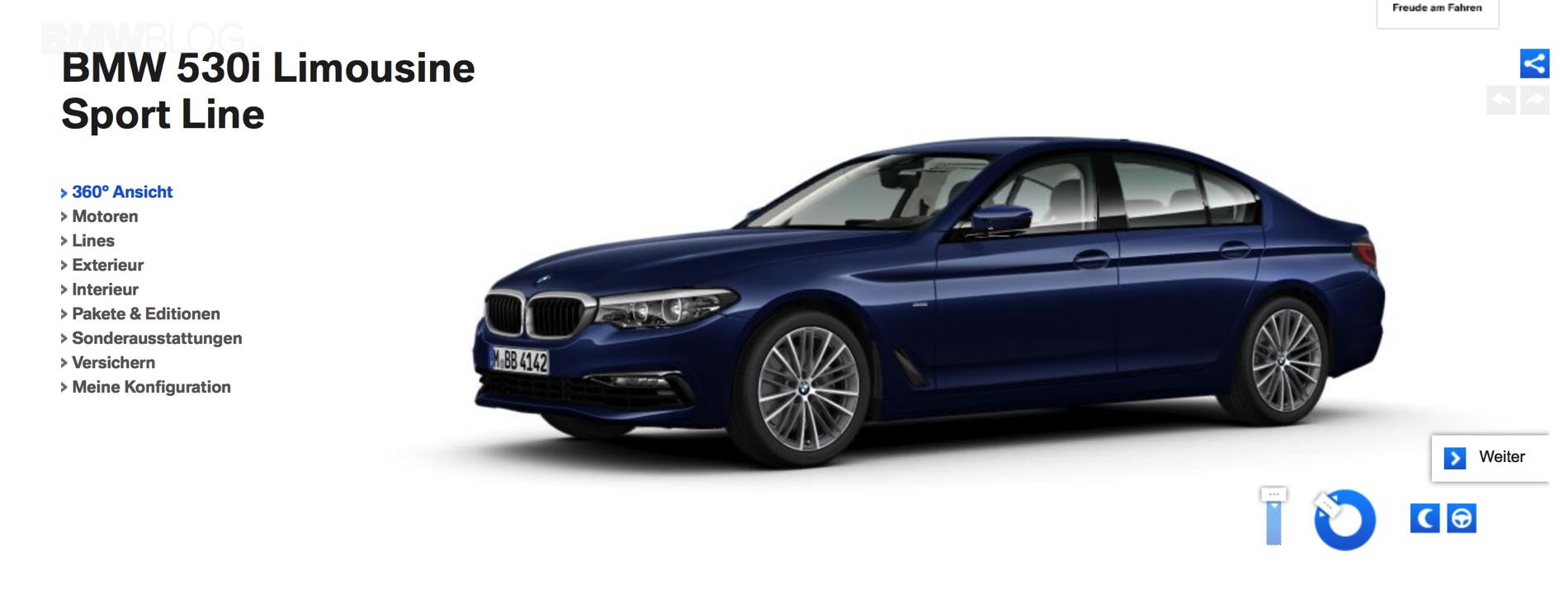 G30 BMW 5 Series online configuration 1