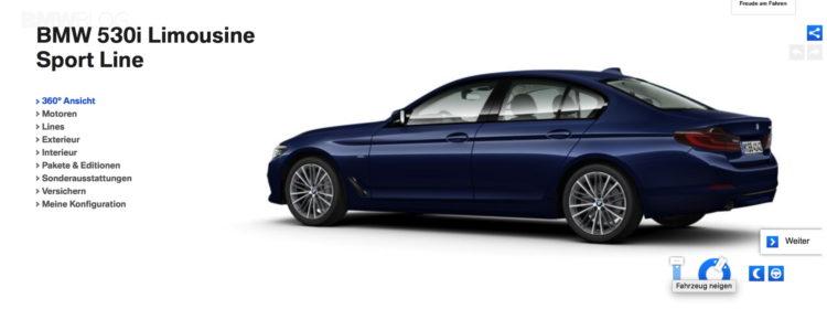 G30 BMW 5 Series online configuration 2 750x280