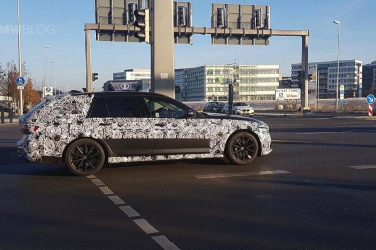 2017 BMW 5 Series Touring Spy Photos 05 750x500