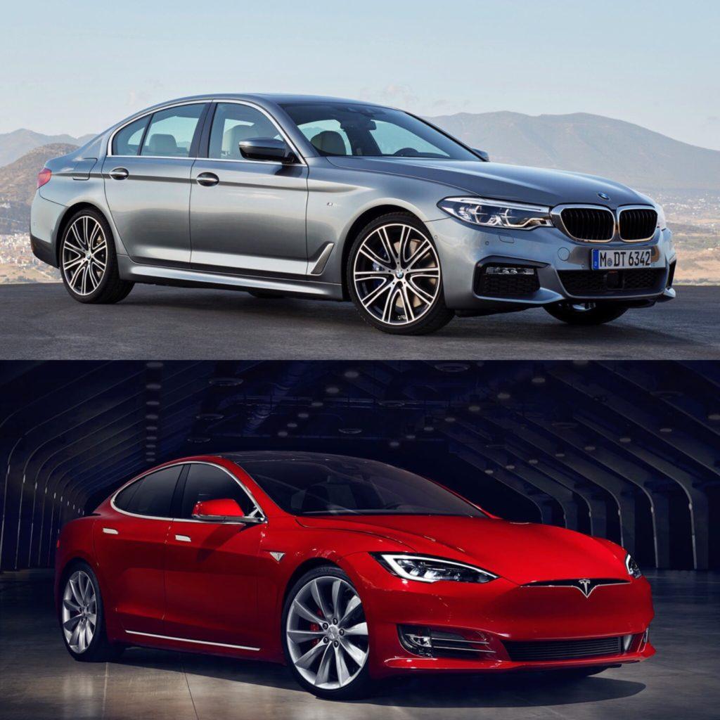Bmw X7 M Series: BMW 5 Series Vs Tesla Model S