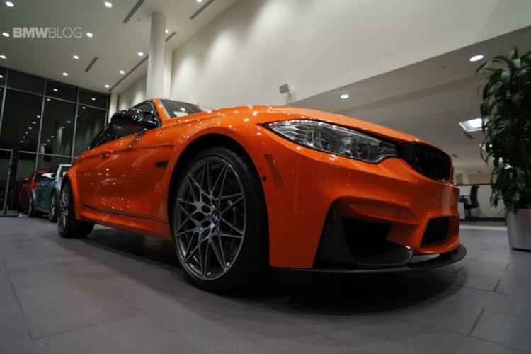 This BMW M3 Sedan is on fire