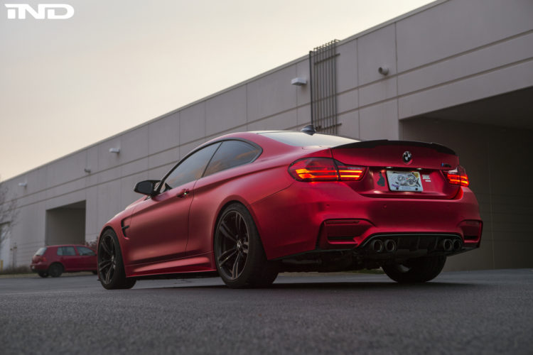 Matte Red BMW M4 By IND Distribution