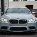 Silverstone BMW M5 With Blue Wheels A Custom Exhaust Installed 17 120x120