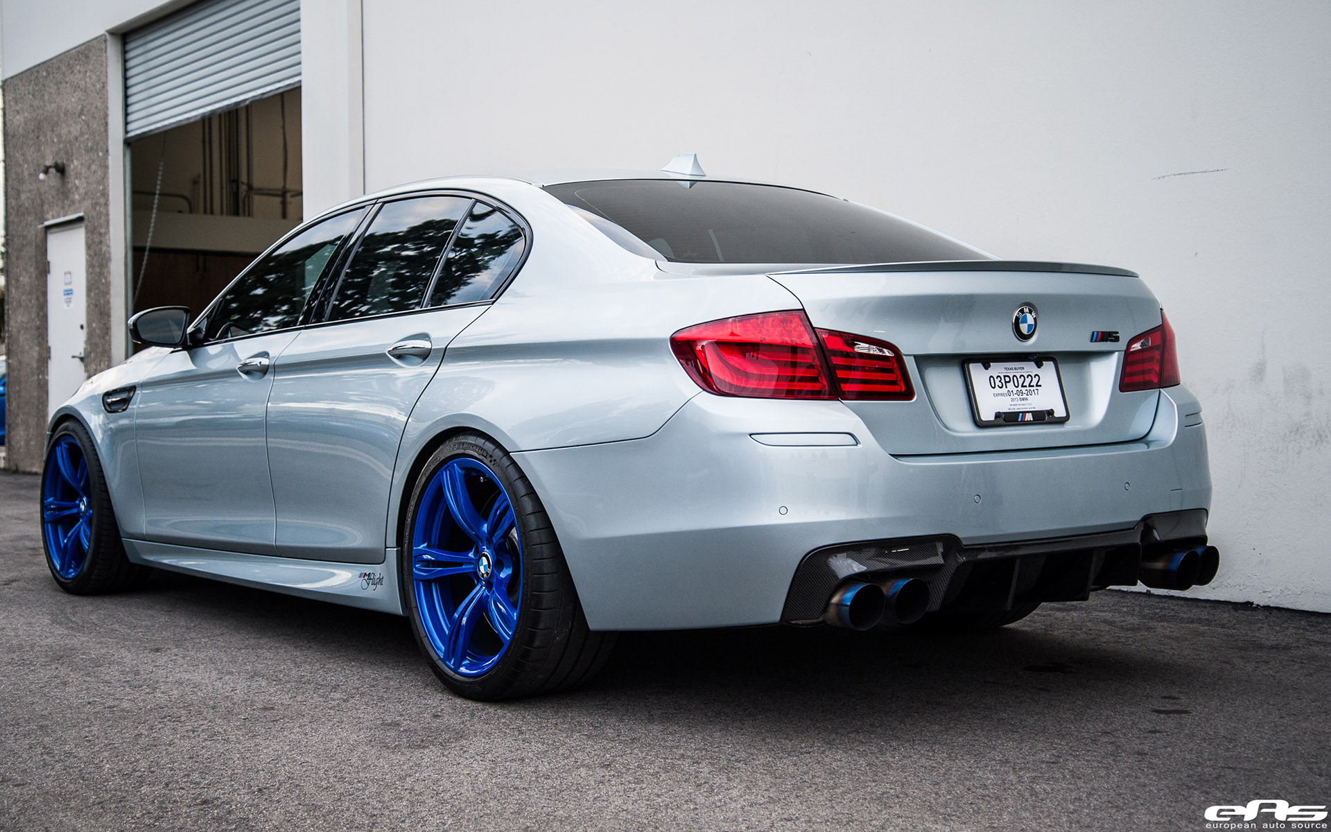 Silverstone Bmw M5 With Blue Wheels Amp A Custom Exhaust