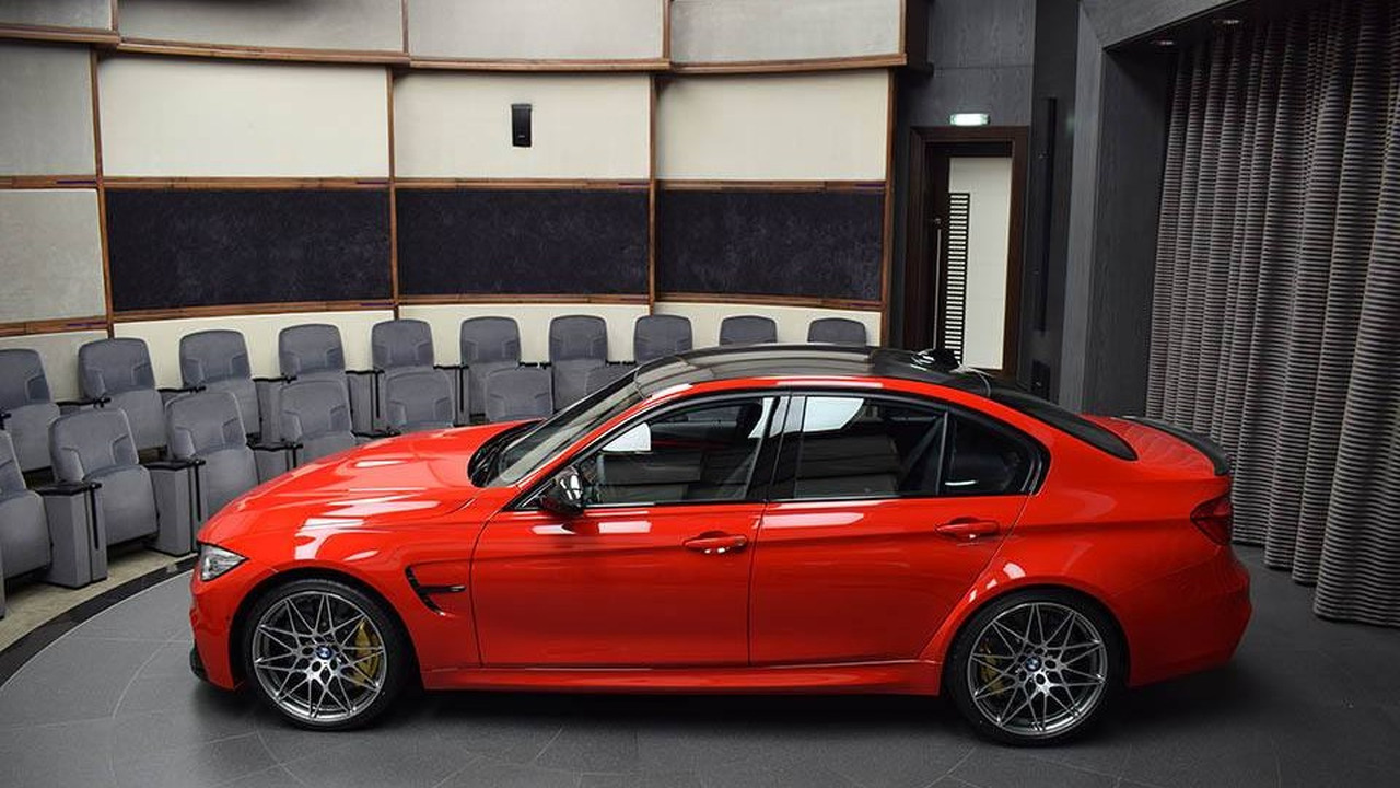 Ferrari Red Bmw M3 With Competition Package And M
