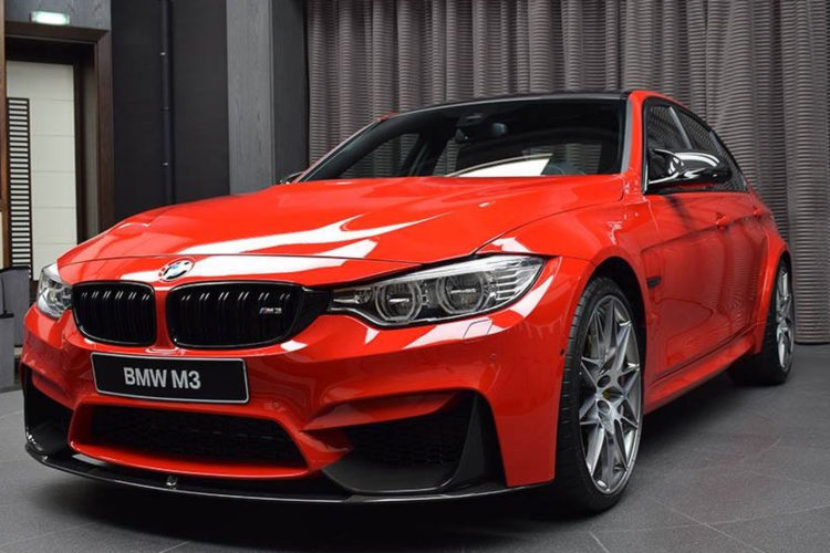 bmw m3 with competition package and ferrari red paint 2 750x500