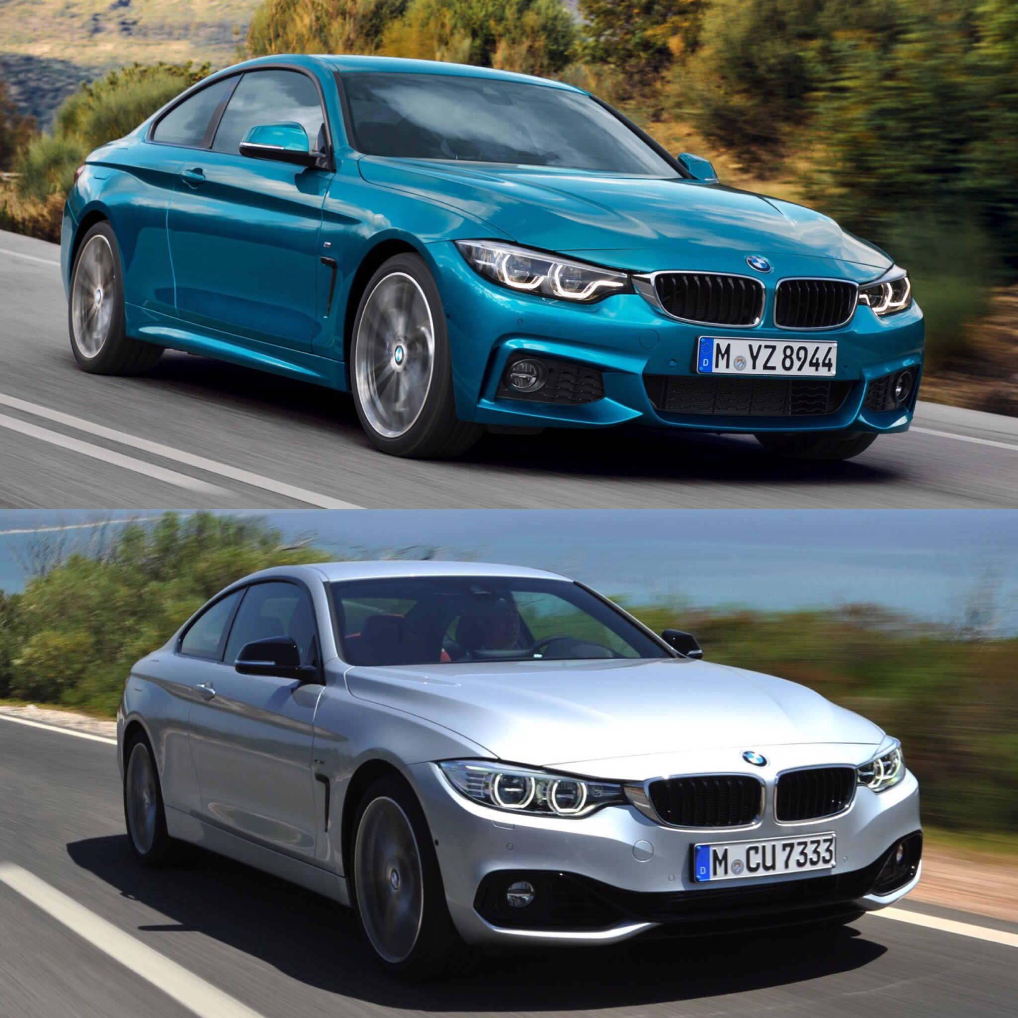Photo Comparison: BMW 4 Series Facelift Vs BMW 4 Series