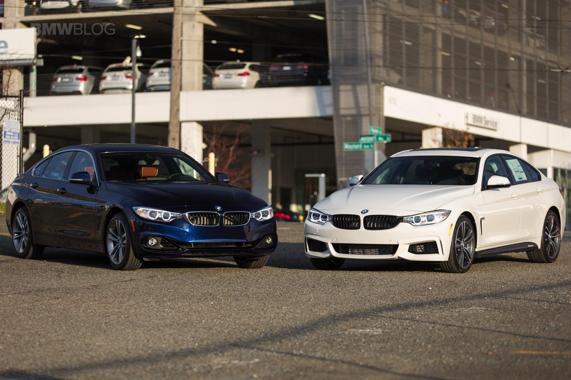 BMW 4 Series Gran Coupe Tanzanite Blue Alpine White 11