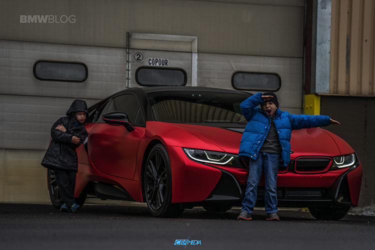One Of A Kind Bmw I8 In Frozen Red Satin Conform Chrome