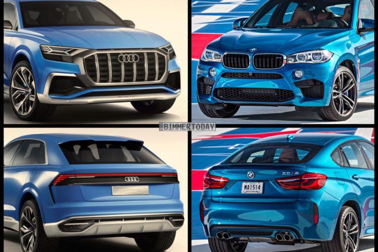 Bild Vergleich BMW X6 M F86 Audi Q8 Concept 2017 01 750x500