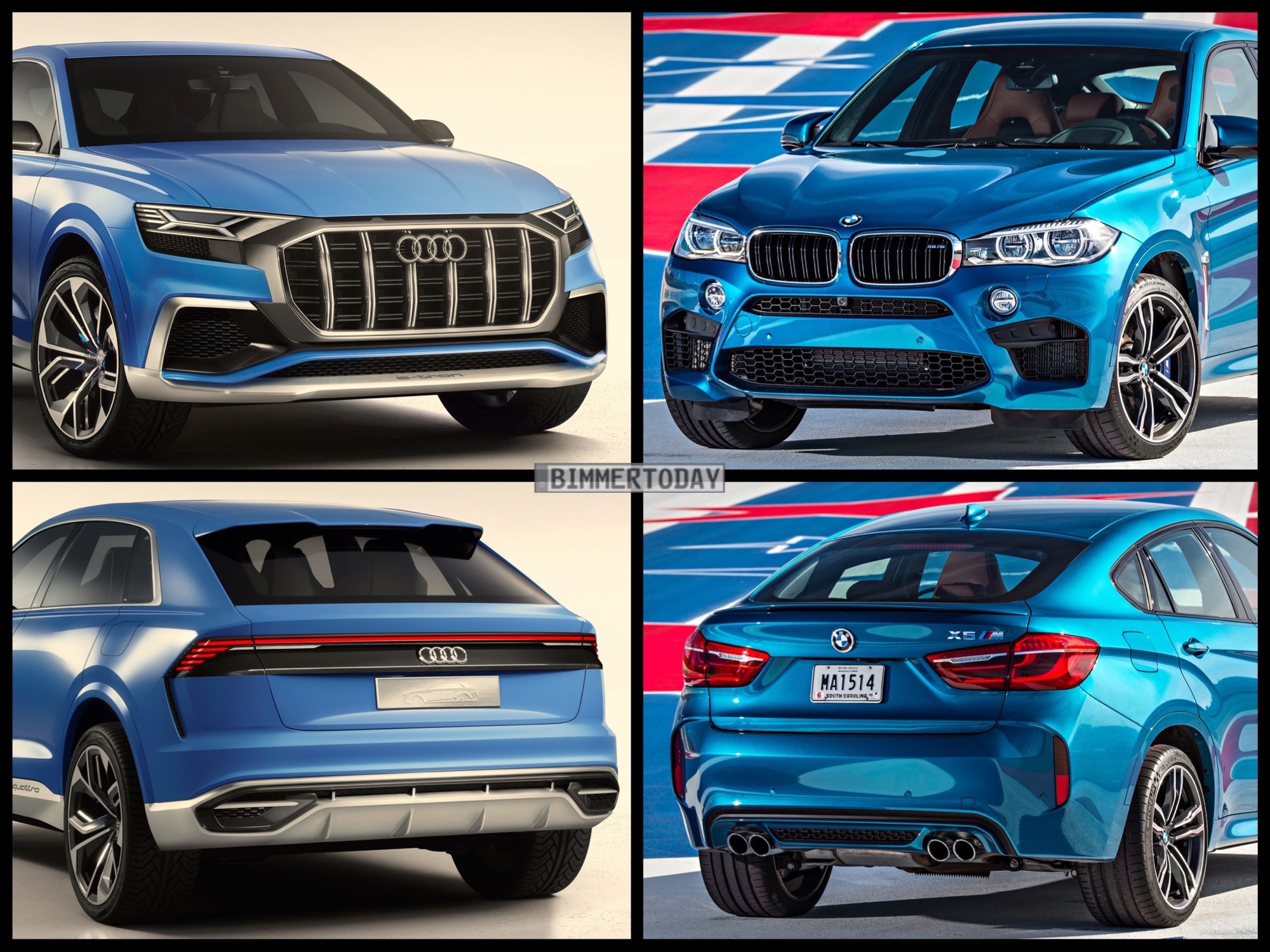 Photo Comparison Audi Q8 Vs Bmw X6 M