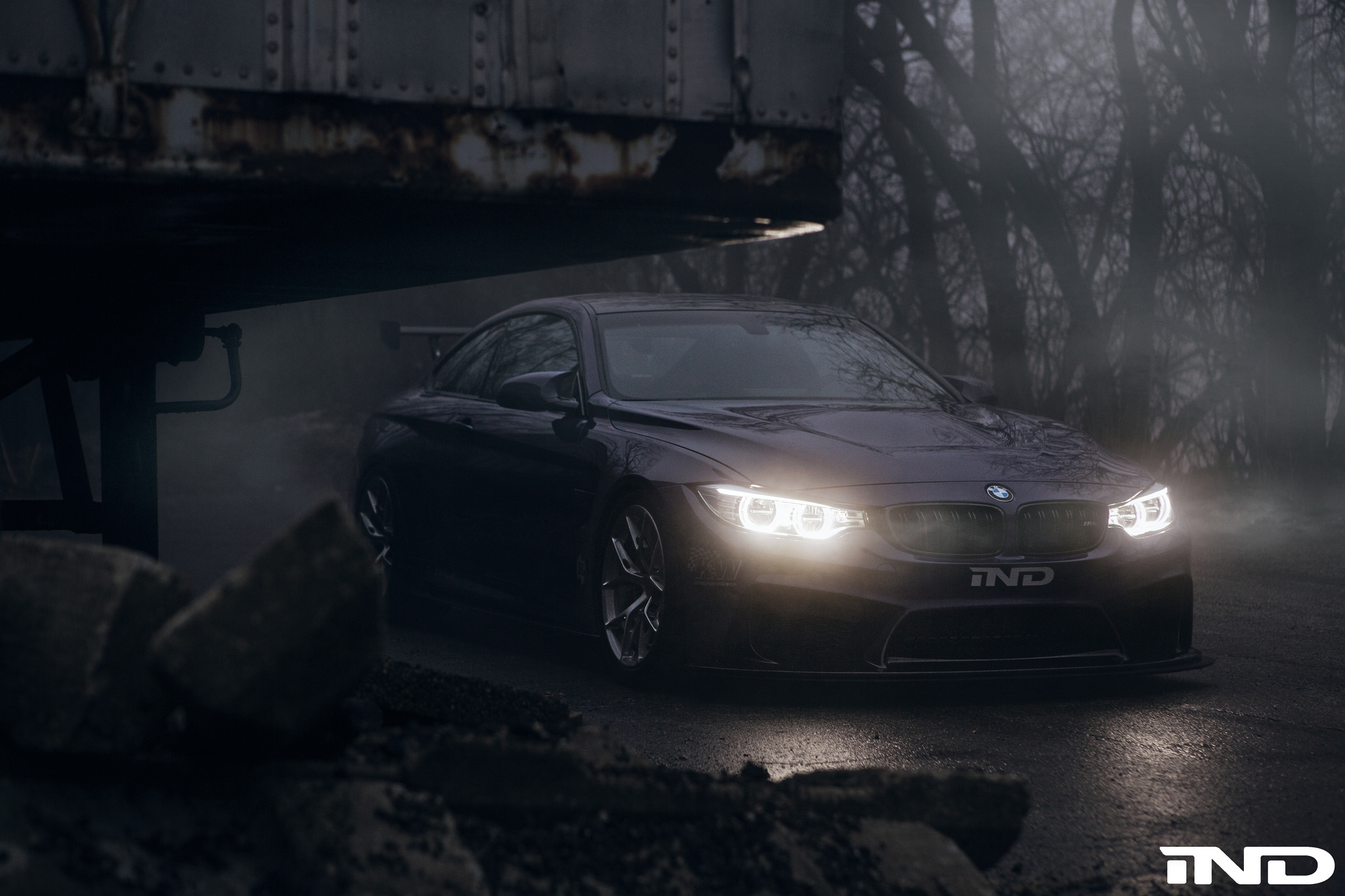 A Dark And Haunting Photoshoot Of Ind S Purple Bmw M4