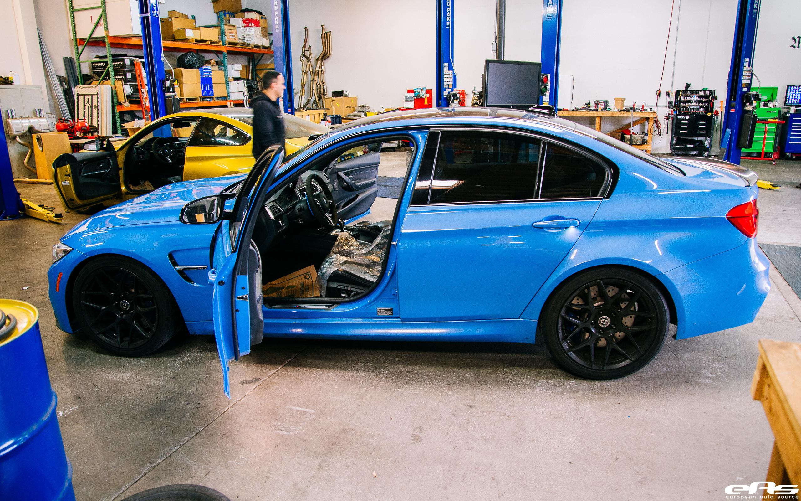 Yas Marina Blue BMW M3 gets some racing upgrades