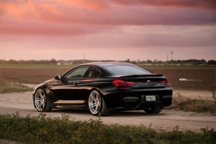 black bmw m6 gran coupe luxury adv1 directional 5 spoke wheels forged rims e 750x500