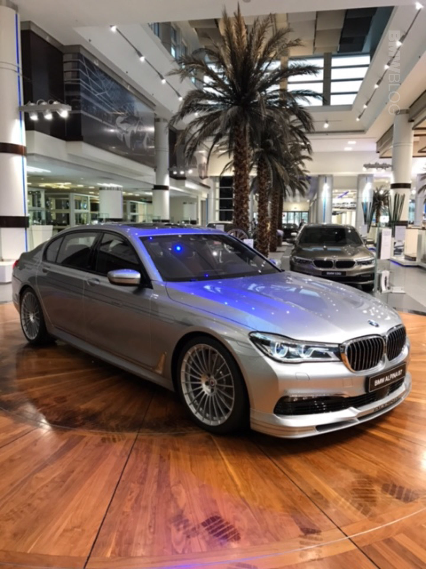 Alpina B7 In Pure Metal Silver With Tartufo Brown Interior