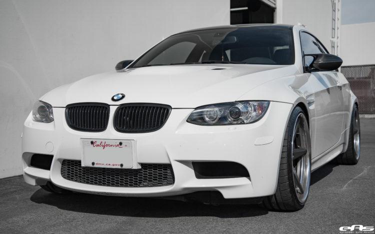 Alpine White BMW E92 M3 With Vossen VWS 3 Wheels Image 3 750x469