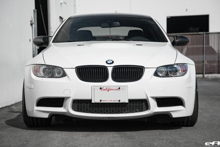 Alpine White BMW E92 M3 gets some aftermarket upgrades