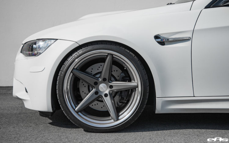 Alpine White BMW E92 M3 With Vossen VWS 3 Wheels Image 5 750x469