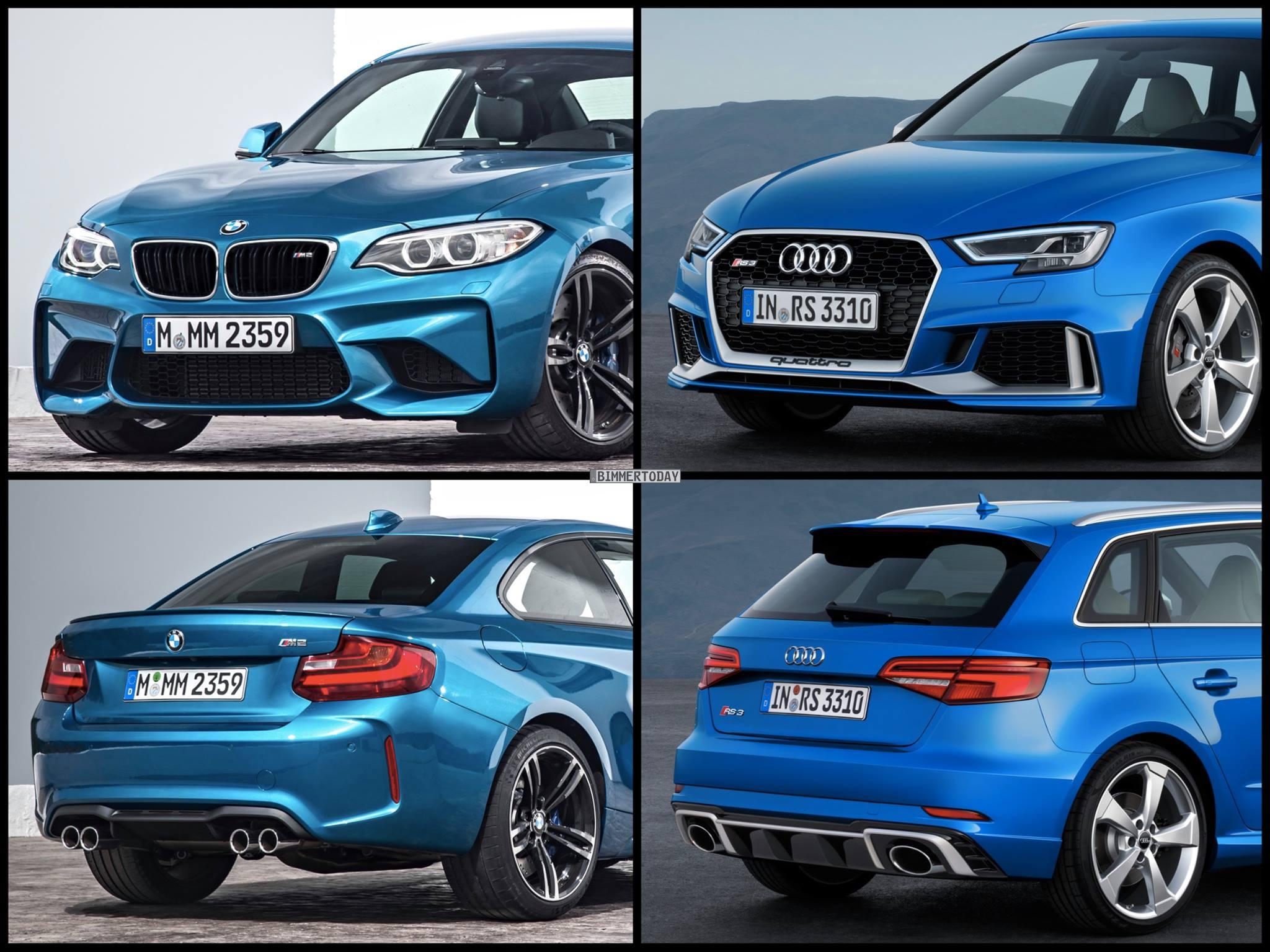Sedan Vs Coupe >> Photo Comparison: BMW M2 vs Audi RS3 Sportback Facelift