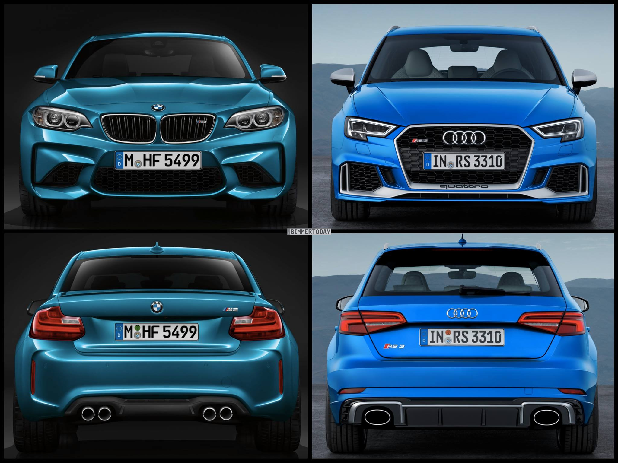 photo comparison bmw m2 vs audi rs3 sportback facelift. Black Bedroom Furniture Sets. Home Design Ideas