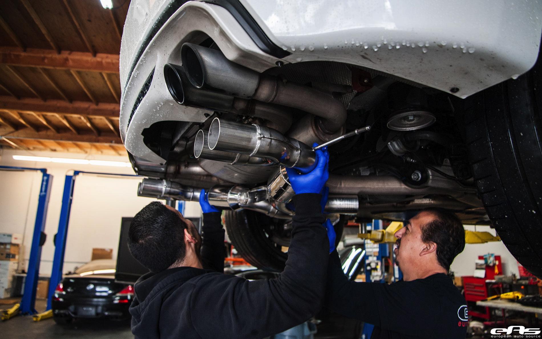 Alpine White X6 M Gets An Eisenmann Performance Exhaust