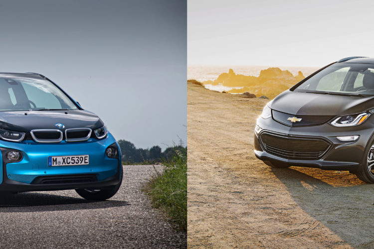 BMW i3 Chevy Bolt comparison 750x500