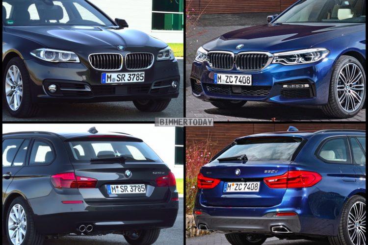 Bild Vergleich BMW 5er G31 F11 LCI Touring 2017 01 750x500